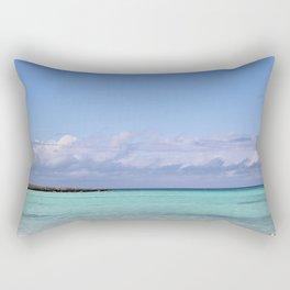 Caribbean Clouds Rectangular Pillow