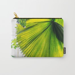 Bright Green Tropical Garden Leaf Carry-All Pouch