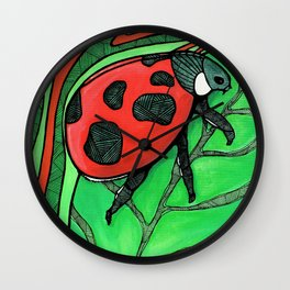 The LadyBug Wall Clock