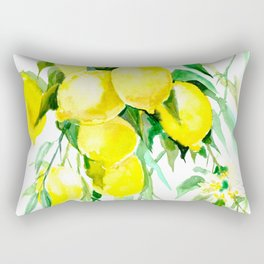 Lemon Tree kitchen decor art towel lemon Rectangular Pillow
