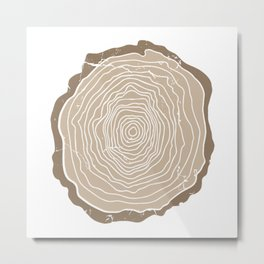 Vintage Tree Rings Metal Print