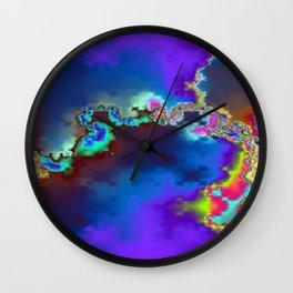 Rainbow Lightning Wall Clock