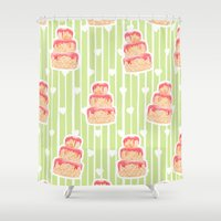 cake Shower Curtains featuring Cake by Marta Li