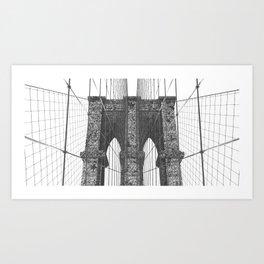 Apocalyptic Brooklyn Bridge Art Print