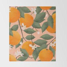 fresh citrus Throw Blanket