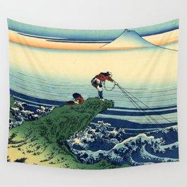 "Hokusai (1760-1849)  ""Kajikazawa in Kai Province"" Wall Tapestry"
