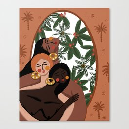 Cabana girls Canvas Print