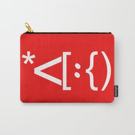 Santa Face Geek Computer Language IT Christmas #2 Carry-All Pouch