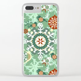 snow in garden Clear iPhone Case