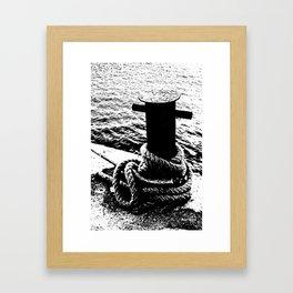 Loosen the hawser Framed Art Print