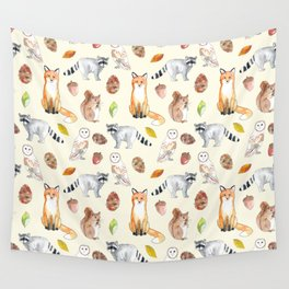 Woodland Critters Wall Tapestry