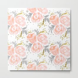 Sparkling Rosé flora Metal Print
