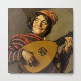 """Frans Hals """"The Lute Player"""" Metal Print"""