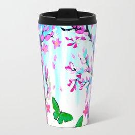 Cherry Blossoms and Butterflies Travel Mug