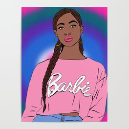 Black Barbie Poster