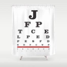 Focus On jesus Shower Curtain