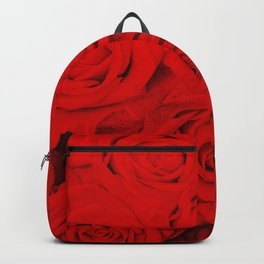 Some people grumble- Floral Red Rose Roses Flowers Garden Backpack