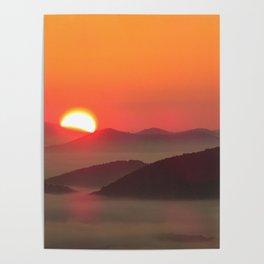 Sunrise Over Blue Ridge Mountains Poster
