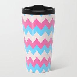 Cotton Candy Chevron Travel Mug
