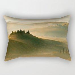 Sunrise in Val D'Orcia Rectangular Pillow
