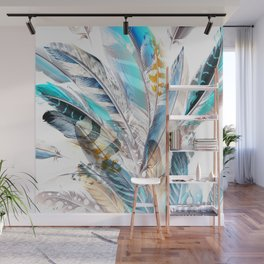 Cosmic Feathers Wall Mural