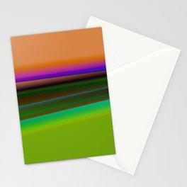 ORANGE GREEN TEXTURE ART Stationery Cards