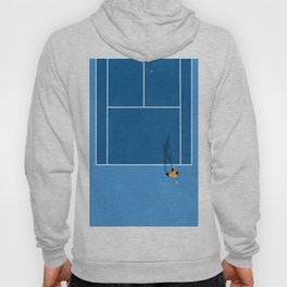 Blue Tennis Court Illustration  Hoody