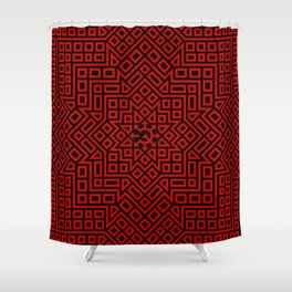 Chaos Communism- Leveled Details Shower Curtain
