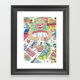 Hungry girl Framed Art Print