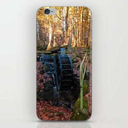 Water wheel in the wood | architectural photography iPhone Skin