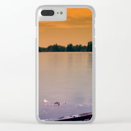 Evening mood at the lake Clear iPhone Case