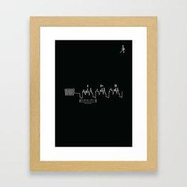 Voyager Golden Record Fig. 4 (Black) Framed Art Print