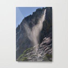 The Ghost. Lauterbrunnen Waterfalls. Alps. Switzerland Metal Print