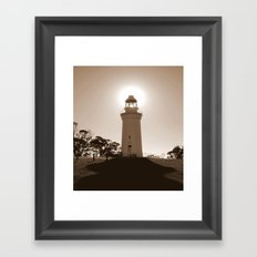 Midday over Lighthouse Framed Art Print