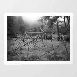 Wooden structure Art Print