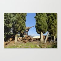 anchors Canvas Prints featuring Anchors by aeolia