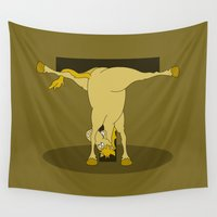 pony Wall Tapestries featuring Monogram T Pony by mailboxdisco