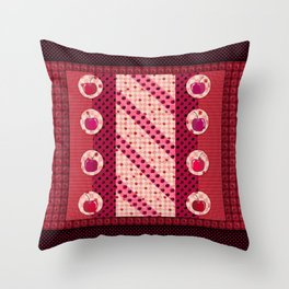 Cherry red  Throw Pillow