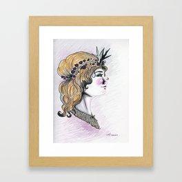 Oh Deer Girl Framed Art Print