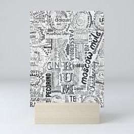 Drinks Full Tag Cloud Mini Art Print