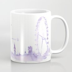 Watercolor landscape illustration_London Eye Mug