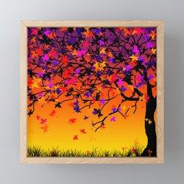 The Scent Of Halloween Autumn Tree Framed Mini Art Print