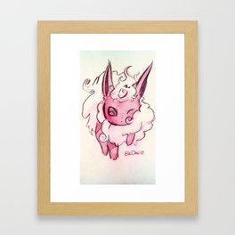Keep calm and FlareON! Framed Art Print
