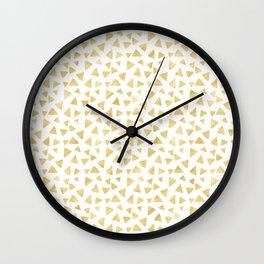 Golden Triangles Wall Clock
