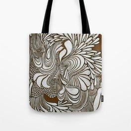 White Pattern Tote Bag