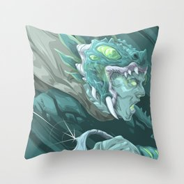 The Dragon Fang Spectre Throw Pillow