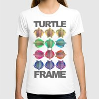 frame T-shirts featuring Turtle Frame by Galvanise The Dog
