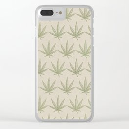 Weed Leaf Clear iPhone Case