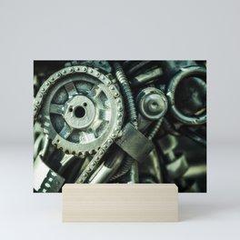 Machine Part BNW Abstract II Art Mini Art Print