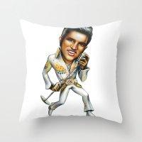 elvis presley Throw Pillows featuring Elvis Presley by sergo